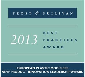 Frost & Sullivan award for Xiran® IZ recognises Polyscope new product innovation leadership. (Photo Polyscope, PSPR010)