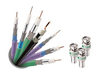 Belden places high quality coaxial video cables and connectors in the spotlight. 