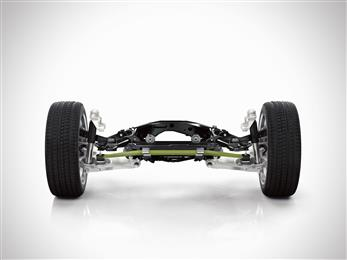 The rear axle of the new Volvo XC90 features a new transverse leaf spring, made of lightweight composite material. BENTELER-SGL mass-produces the composite leaf springs for the rear suspension using Loctite MAX resin from Henkel.