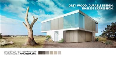 Trespa today announced an extension to its popular Trespa® Meteon® range of durable exterior panels, with the addition of six distinctive grey wood tones. (Photos Trespa, TRPR127)