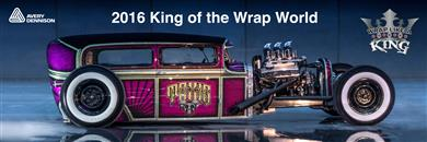 "Nick Caminiti named 2016 King of the Wrap World in Avery Dennison ""Wrap Like a King"" Challenge. (Photos: Avery Dennison, PR337)"