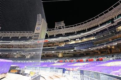 Nearly Invisible Netting to Protect Fans at 10 Major League Baseball Stadiums.
