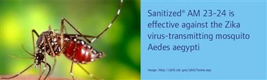 Sanitized® AM 23-24 effective against Zika virus-transmitting mosquito. (Photos: SANITIZED AG, PR015)