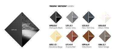 Trespa® Lumen Colour Overview. (Photo Trespa, TRPR129)