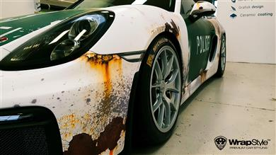Wrap Like a King 2017 ganador continental Europa - Polizei Rusty Design, de Wrapstyle Denmark. 