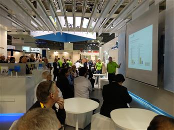 Innovation Sessions are a keynote attraction at Archroma's booths worldwide. Here at ITMA Milan 2015. (Photos: Archroma)