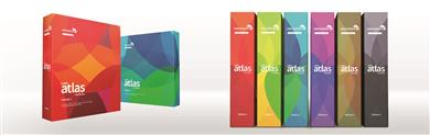 The Color Atlas by Archroma® comprises 6 volumes organized by color group. (Photo: Archroma)