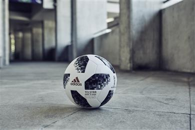 Telstar 18: The official soccer ball from adidas for the World Cup 2018 contains Keltan Eco.