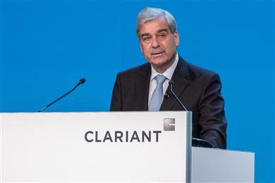 Rudolf Wehrli, Chairman of the Board of Directors, opens the 22nd Annual General Meeting of Clariant AG. (Photo: Clariant)