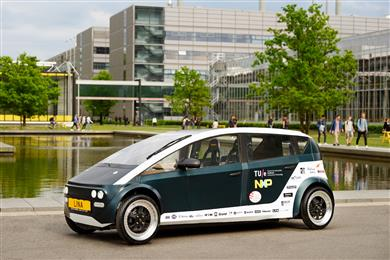 LINA - the Bio-Composite based Car with PLA Honeycomb Sandwich Design. 