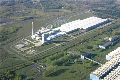 Guardian Glass' new float and coated glass plant is planned to be located adjacent to the company's existing plant in Czestochowa, Poland. (Photo Guardian Industries Corp., GRDPR144)