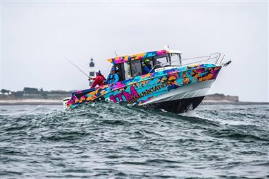"ATM Communication (France) won the 'boats' category for ""the Barracuda Tour"", decorating 14 barracuda motorboat hulls with creative graphics. ATM also won the public choice awards.