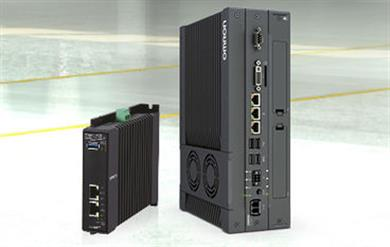 Left: Programmable Multi-Axis Controller CK3E. Right: Industrial PC Platform NY-series, IPC Multi-Axis Controller NY51_-A.