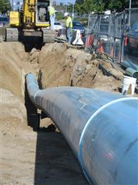 Trenchless refurbishment of old pipeline with welded PE100 pipes. (Photo: PE100+ Association, PR004)