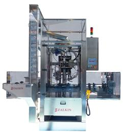 Zalkin Delivers a Price and Performance First at Interpack with the Introduction of the Moderately Priced TM300 Integrated Filler/Capper. (Photo: Pro Mach)