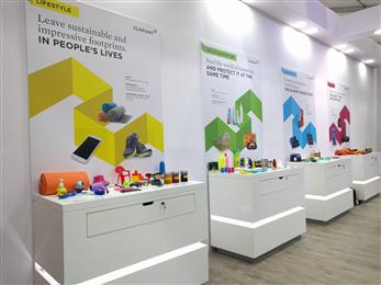 Clariant showcases products under the megatrends of lifestyle, health & nutrition, urbanization and mobility. 