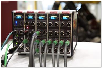 New Moog Digital Test Controller's high input/output density allows for easily configurable set ups. (Photo Moog, MGPR1708)