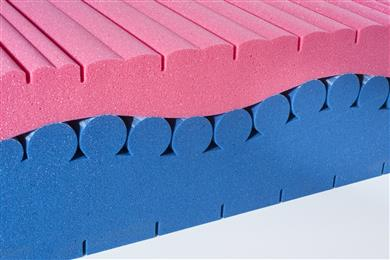 Milliken will display a mattress to help demonstrate how its Reactint colorants deliver deep shades across a wide colorspace. (Photo © 2018 Milliken & Company, all rights reserved, MKPR179)