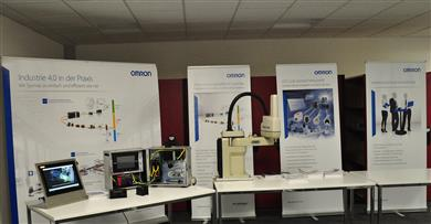 The presentations and live demonstrations during the open days demonstrated how Omron implements Industry 4.0 in practice. 