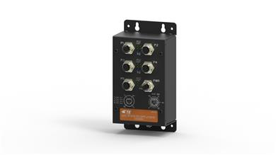 TE Connectivity unveils unmanaged industrial Ethernet switches with M12 connectivity for railways. (Source: TE Connectivity, PR230)