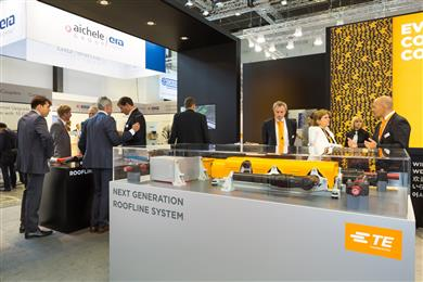 TE Connectivity to show the way for rail power and data transmission at InnoTrans. 