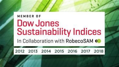 TE Connectivity named to Dow Jones Sustainability North America Index for seventh straight year. (Source: TE Connectivity, PR280)