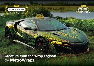 MetroWrapz wins 'King of the Wrap World' crown for second year, in the Avery Dennison 2019 'Wrap Like a King™' challenge. 