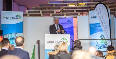 Opening ceremony at the new Archroma Global Competence Center for Automotive & Synthetic Dyeing in Korschenbroich, Germany, in presence of Alexander Wessels, CEO of Archroma. 