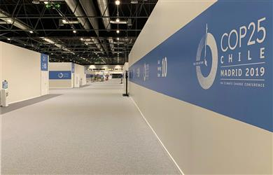 Caption: UN Climate Conference 2019 chooses recyclable Rewind carpet from Beaulieu International Group.