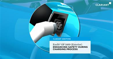 Exolit OP 1400 (Exterior): ENHANCING SAFETY DURING CHARGING PROCESS. (Photo: Clariant)