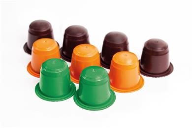 Coffee capsules made of AF-COLOR'S bio masterbatches based on Clariant's new biodegradable pigments range. (Photo: AF-COLOR af-color.com)