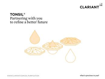 Clariant showcases Tonsil, a highly active bleaching earth at MPOB International Palm Oil Congress and Exhibition. 