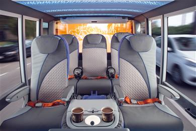 Customized foam solutions in Rinspeed's new MetroSnap concept car illustrate the comprehensive know-how of FoamPartner in lightweighting acoustic and thermal materials for next-generation EVs. 