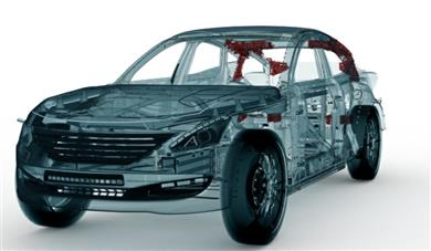 Henkel and RLE International demonstrate the lightweighting potential of Teroson structural foam in hybrid automotive body parts. 