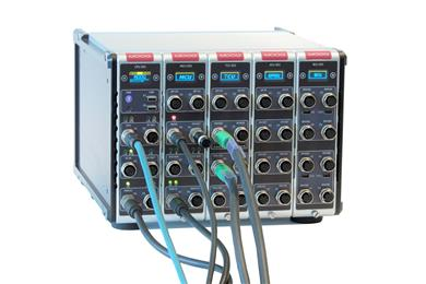 Moog's new test controller includes two built-in, fully integrated data acquisition units (DAQ) that test lab operators can use to collect a few channels or dozens of channels during a test. 