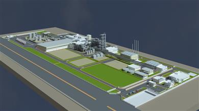 Perstorp's planned Penta manufacturing plant in Gujarat, India.