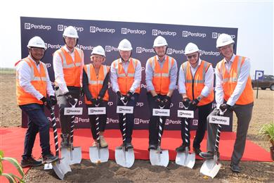 Perstorp unveiled plans to invest in the construction of a new Pentaerythritol (Penta) production facility in Gujarat, India. A groundbreaking ceremony for the new plant was held on November 6 2019.