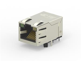 TE Connectivity now offers industrial Ethernet jacks with integrated magnetics and PoE. 