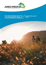 Archroma releases its third sustainability report. 