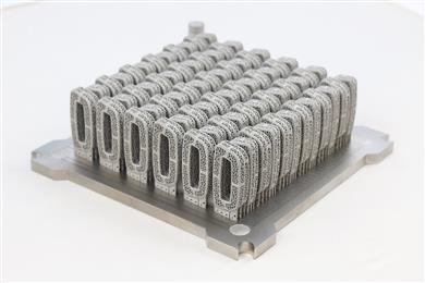 Single layer build of a proprietary spinal cage.